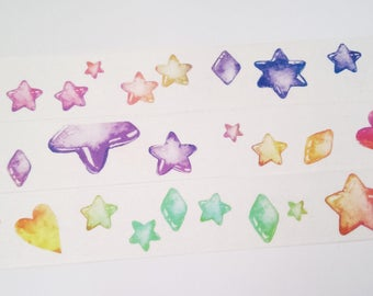 Design Washi tape star shapes stones masking tape