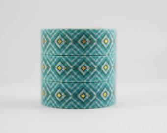 Washi tape gold foil tape turquoise pattern masking tape