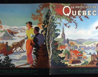 Quebec Canada Souvenir 1930s Provincial Tourist Bureau Guide