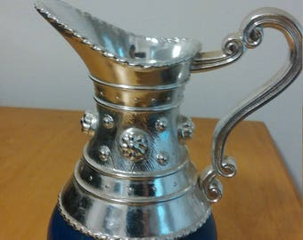 Avon Blue and Silver Pitcher Knick Knack