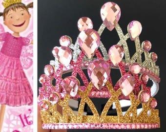 Pinkalicious Crown,Glinda Good Witch crown,Pinkalicious headband,birthday girl pink accessory,birthday crown,Pinkalicious Elastic Headband
