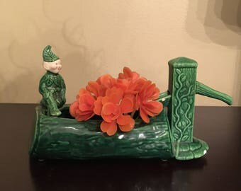 Vintage 1950s - 1960s Elf Pixie Ceramic Plater