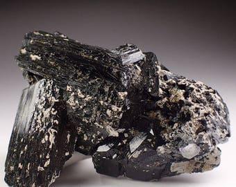 Beautiful Black Tourmaline Crystal Specimen, Erongo Namibia