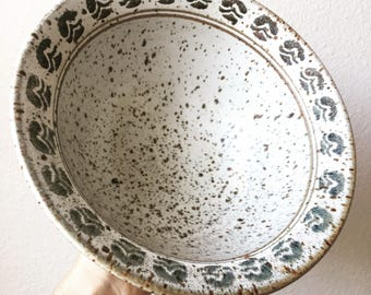 Speckled Ceramic Studio Pottery Bowl