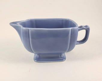 Rivera Pottery Creamer, Vintage 1940s, Blue Cream Pitcher, Homer Laughlin China, Midcentury Kitchen, Art Deco Style, Farmhouse Decor