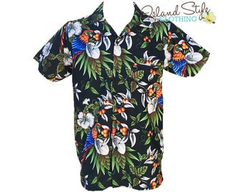 Hawaiian Shirt | Black Magnum | Fancy Dress Costume