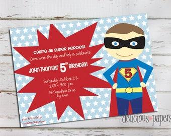 superhero invitation • superhero birthday party invitation • boy birthday invitation • superhero birthday
