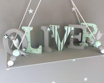 Wooden letters freestanding letters nursery letters girls name letters boys name letters baby name letters