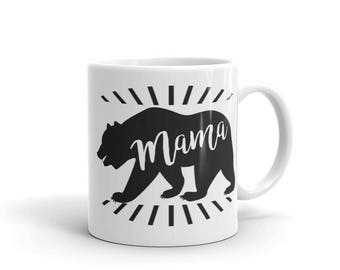 Mama Bear Mugs | Mug For Mama Bear | Mama Bear Gift | Mama Bear Mug | New Mom Mug | Mama Bear Coffee Cup