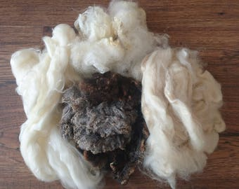 Earth blends - mystery box, fibre pack, 100g of natural fibres to inspire your creativity
