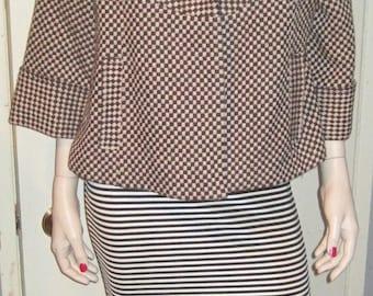 Vintage WOMEN'S Ladies Stylish FASHION GUEJES Pea Coat Jacket Sz 15 175/96A