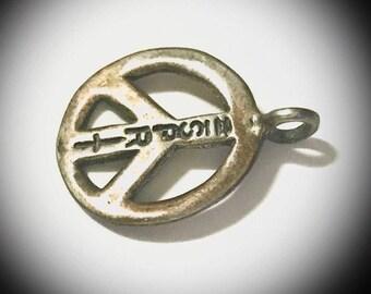 vintage ESPRIT sterling silver peace sign pendant Stacey Moore designer marked