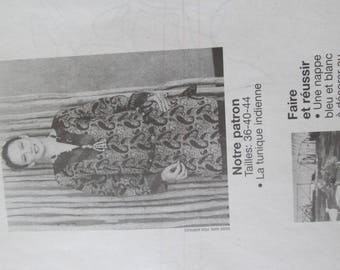 pattern edge to make a stunning Indian tunic and embroidery tablecloth