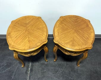 wing chairs with green dragonfly upholstery favorite favorited add to added thomasville french court burl oak oval end side tables pair