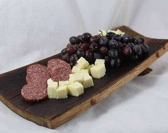 Wine Stave Charcuterie Board / Napa Valley Oak Wine Barrel / Cheese Board
