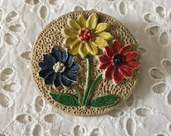 Vintage early plastic brooch