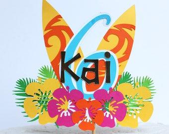 Hawaiian Themed Cake Topper