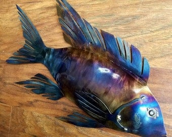 Metal African Cichlid Wall Hanging