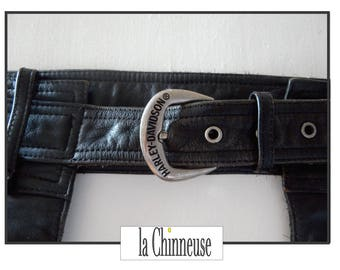 HARLEY DAVIDSON CHAPS / Chaps en Cuir Harley Davidson/ Chaps Cuir Noir Moto/ Harley Davidson Men's Leather Chaps / Gift for him.