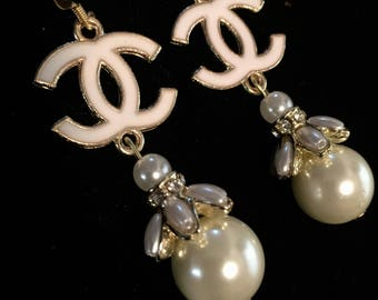Pearl Earrings ,Statement  Earrings, Classy White Earrings