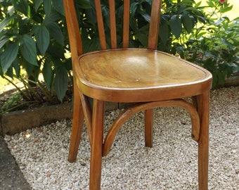 FISCHEL brewery Bistro Chair vintage French / Chair Fischel wooden hand-made in France vintage