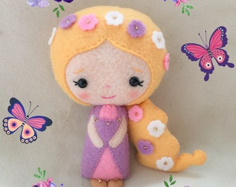 RAPUNZEL - Felt Doll - Gingermelon Doll