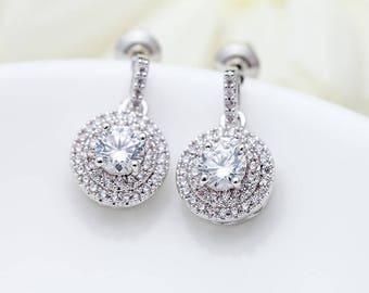 Bridal Earrings, Cubic Zirconia Earrings, Stud Earrings, Drop Earrings, Chandelier Earrings, Bridal Jewellery, Bridesmaid Earrings