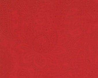 Moda PUZZLE PIECES Quilt Fabric 1/2 Yard - Paisley Red 1007 51