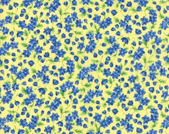 Moda SUMMER BREEZE V Quilt Fabric By The 1/2 Yard - Yellow 33304 12