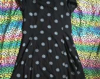 1990s black Indian summer dress size xs