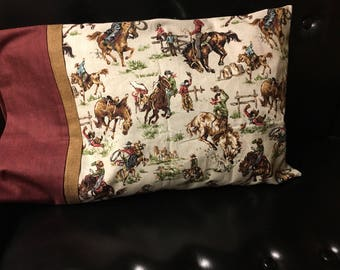 Country Cowboy Travel Pillowcase