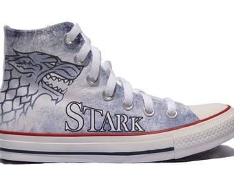 Game Of Thrones Custom Converse / Stark Custom Shoes / GOT