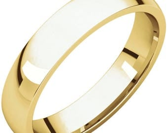 14k Gold Mens Wedding band 4mm wide