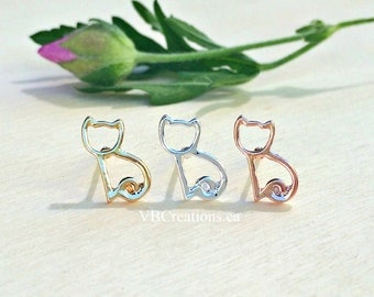 Cat Earrings - Cat Jewelry - Dainty Earrings - Tiny Earrings - Kids Earrings - Children Jewelry - Kitty Earrings - Best Friend Gift - Sister