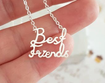 Best Friend Necklace - Best Friend Jewelry - BFF Gift - Best Friend Gift - Friendship Jewelry - Friend Gift - Sister Gift - Gift for her