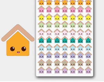 Kawaii Rent Due  House Planner Stickers