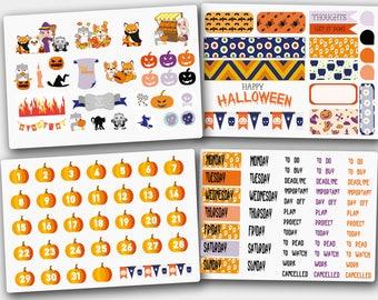 Halloween  Sticker Set, Holiday Stickers,  Halloween Stickers, Decorative Stickers, Pumpkin Planner Stickers, Halloween Planner Stickers
