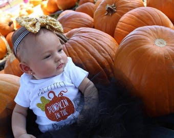 Prettiest Pumpkin in the Patch onesie - Pumpkin - Fall onesie
