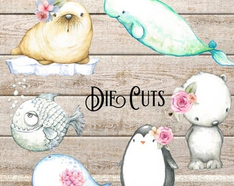 ARTIC ANIMALS DIE Cuts // Perfect for decorating Planners and Travellers Notebooks