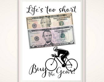 Cycling Gifts - Gifts for Cyclists, Bicycle Gifts, Bike Gifts, Cyclist Gift, Money Gifts, Print, Christmas Gift, PRINTABLE Gift Card Holder