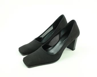 Vintage Nine West Court Shoe Pump High Heels - Black - Size 7 M