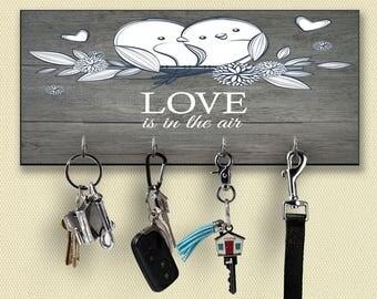 Custom Key Holder For Wall, Personalized Key Hanger, Personalized Key Holder, Key Holder, Personalized Gift, Wall Key Rack, Key Rack, Love