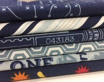 Game Day 1/2 Yard Fabric Bundle - Riley Blake Designs - 6 pieces