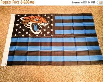 PRE-SEASON SALE 30% Off Jacksonville Jaguars, Jaguars Nation Flag or Banner 3' x 5' Blue & Black