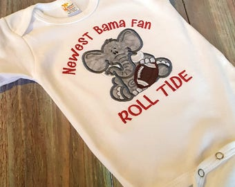 Newest Bama Fan bodysuit- Bama Baby Outfit