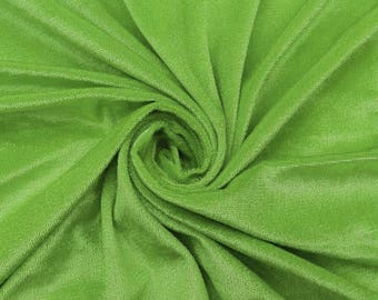"""Green Velvet Fabric, Stretch Fabric, Dress Material, Home Decor Fabric, 57"""" Inch Wide Fabric By The Yard ZVE103B"""