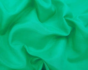 "Sea Green Cotton Silk Fabric, Sewing Decor, Apparel Fabric, Home Accessories, 54"" Inch Fabric By The Yard ZCS1F"