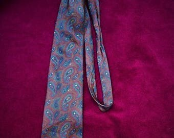 Vintage tie/pure silk tie/paisley tie/vintage italian tie