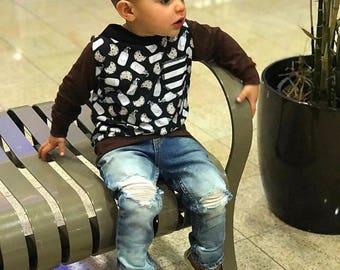 Hoodie, sweatshirt, modern baby, cookies and milk, sweets, valentine, baby boy, handmade baby outfit, cookies shirt, foodie, toddler clothes
