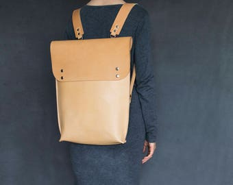 Leather backpack, leather backpack, school bag, shoulder bag, leather laptop bag, laptop backpack, Leather vegetable tanned